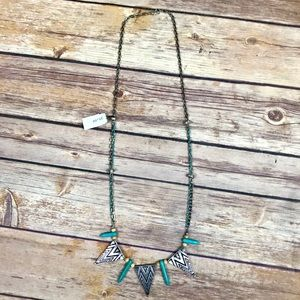 Jewelry - Turquoise Triangle Geometric Necklace